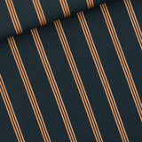 Three Lines Copper - M - Katoen Canvas Gabardine Twill - India Inktblauw_