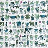 Geplastificeerd katoen cactus_