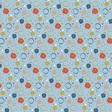 Katoen poplin Circles_