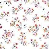 Katoen poplin flowers wit_