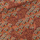 Gilly Flowers - M - Cotton Canvas Gabardine Twill - Zonnebrandbruin_