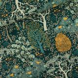 Oriental Garden - M - Cotton Canvas Gabardine Twill - Gevelgroen_