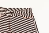 Diagonals - M - Katoen Canvas Gabardine Twill - Zwart & Wit & Koper - R_