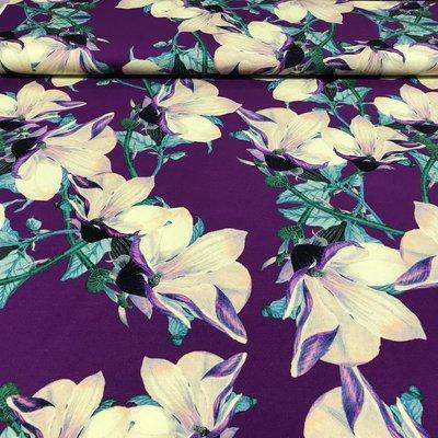 Tricot bloemenkelk paars