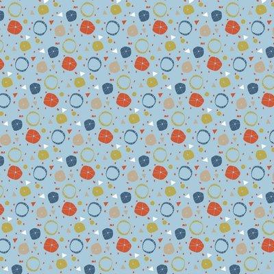 Katoen poplin Circles