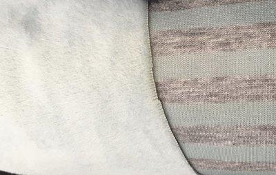 Alpenfleece grijs munt gestreept