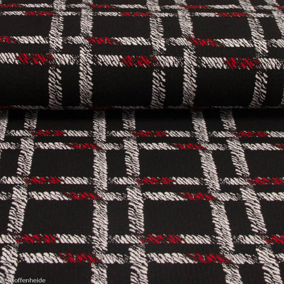 Scarlet Red: checked jacquard