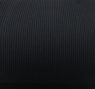 Boordstof: brede rib zwart