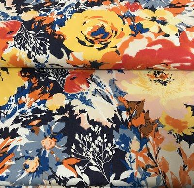 Stretchkatoen: jeans met bloemen