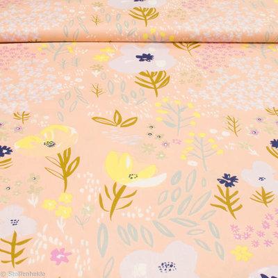 Bloemen metallic zalm