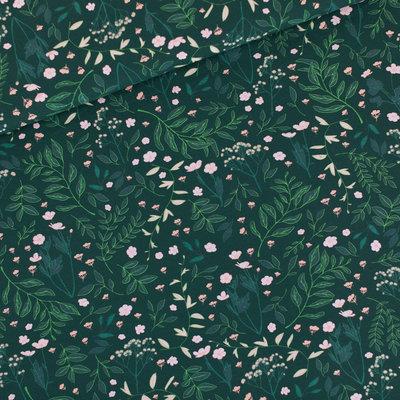 Flower Garden - M - French Terry - Donkerste Denneboom Groen - R