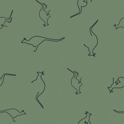 Jersey stof East Kangaroo