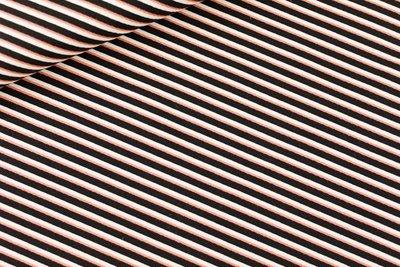 Diagonals - M - Katoen Canvas Gabardine Twill - Zwart & Wit & Koper - R