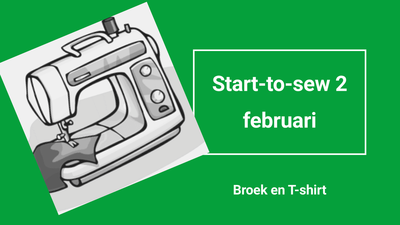 Workshop start-to-sew 2 op donderdag: februari