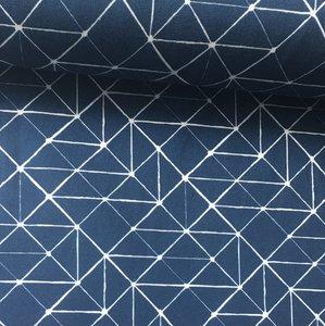 Tricot grid blauw