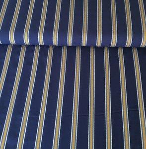 Viscose streep blauw oker