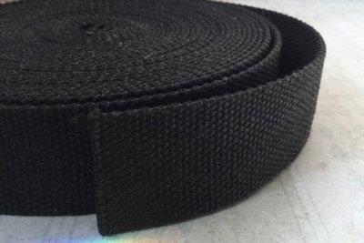 Tassenband - Zwart - 38mm