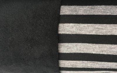 Alpenfleece grijs zwart gestreept