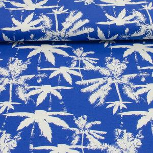 palmbomen - blauw