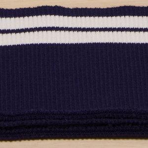 boordstof blauw met witte lijnen