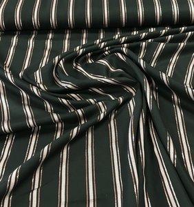 Viscose metallic streep zwart